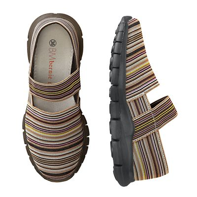 Bernie Mev Strappy-Stripe Elastic Walking Shoes
