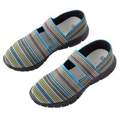 Bernie Mev Strappy-Stripe Elastic Walking Shoes