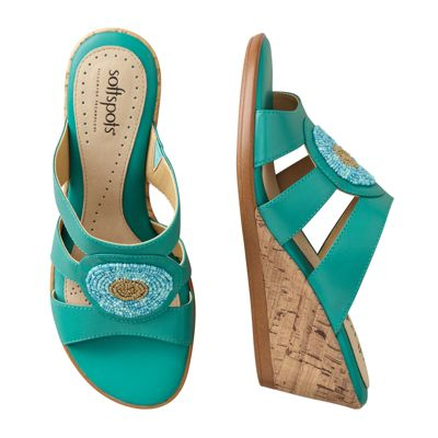 Softspots Laurie Beaded Slides
