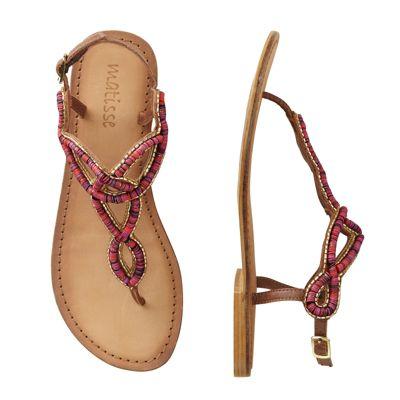 Nereides Shell-Beaded Sandals