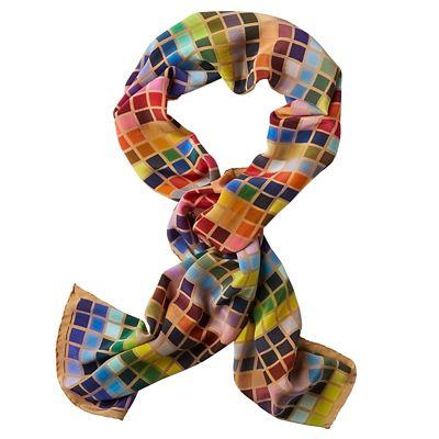 TSO Tile-Print Silk Scarf
