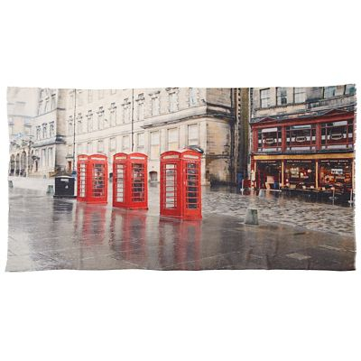 Cityscape London Phone Booth Shawl