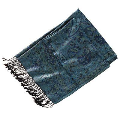 Bihar Blue Silk Wrap