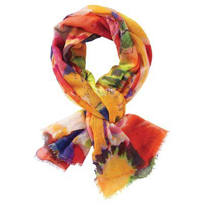 Tolani Colorful Silk-Wool Scarf