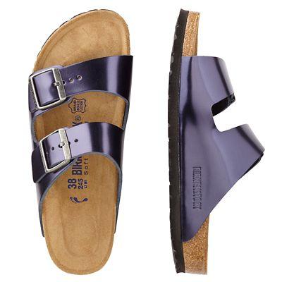 Birkenstock Arizona Suede Metallic Sandals