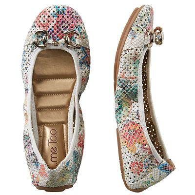 Me Too Perforated Ballet Flats