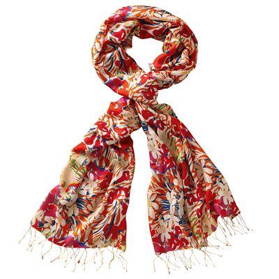 Fresh Florals Silk Scarf