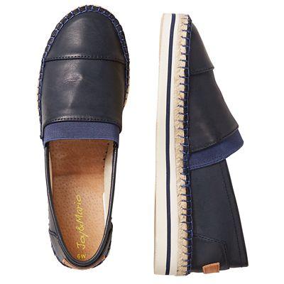 Joy & Mario Leather Slip-On Shoes