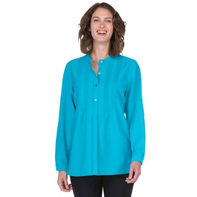 Plus Size Perfect Pintuck Poet Shirt