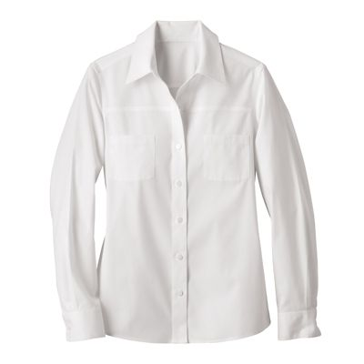 Women's Foxcroft 2-Pocket Non-Iron Stretch-Cotton Shirt