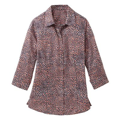 Foxcroft Wrinkle-Free Pebble-Dot-Print Shirt