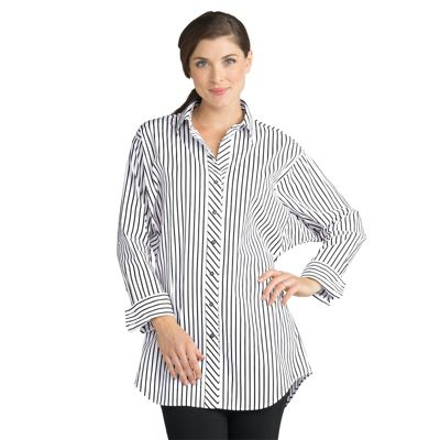 Long-Sleeved Striped Tunic