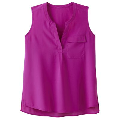 Sleeveless Drop-Hem Tunic