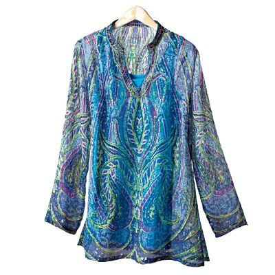 Watercolor Paisley Tunic