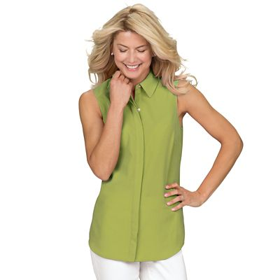 Sleeveless Microfiber Tunic