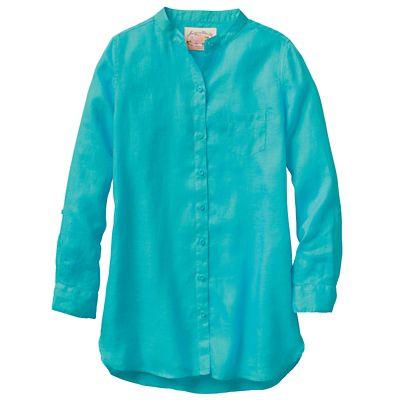 Margaritaville Long-Sleeve Solid Linen Tunic