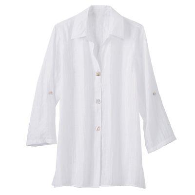 Shimmer Weave Big Shirt