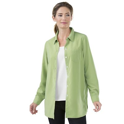 Plus Size Microfiber Big Shirt