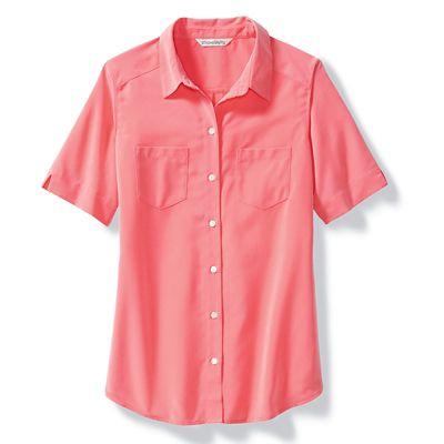 Plus Size Microfiber Short-Sleeve Shirt