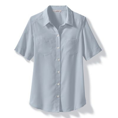 Plus Size Microfiber Short-Sleeve Shirt