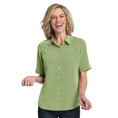 Women's Microfiber Short-Sleeve Shirt