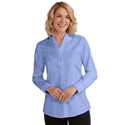 Plus Size Foxcroft for Non-Iron Wing-Collar Shirt