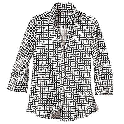 Foxcroft Wrinkle-Free Grid-Print Shirt