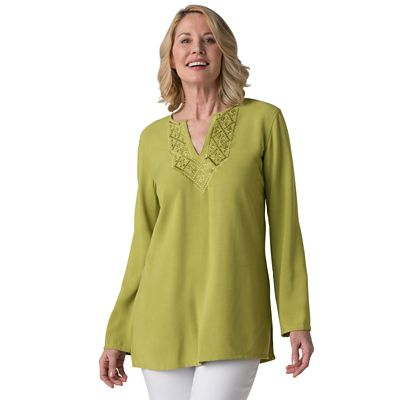 Plus Size Wordsworth Embroidered Tunic
