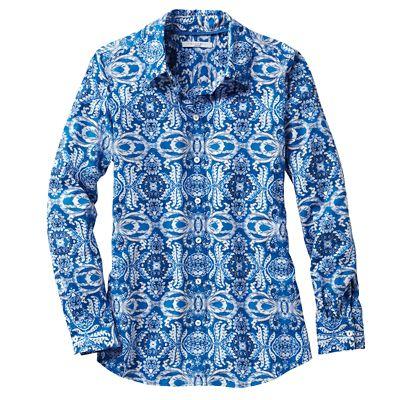 Foxcroft Wrinkle-Free Scroll Shirt