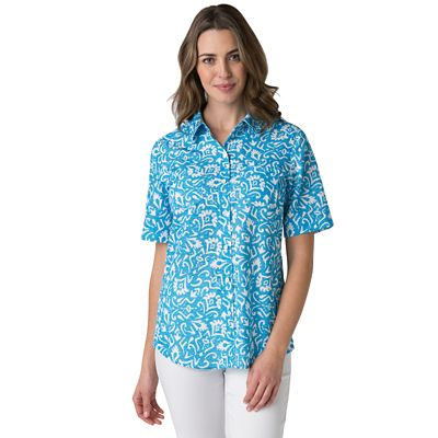 Microfiber Woodblock Print Shirt