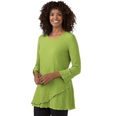 Stretch Crinkle Tunic