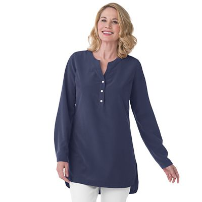 Microfiber High-Low Tunic