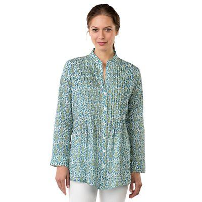 rockflowerpaper Miramar Pintuck Cotton Tunic