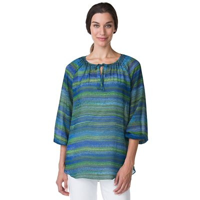 Samba Stripe Peasant Blouse