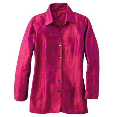 Silk Shantung Big Shirt