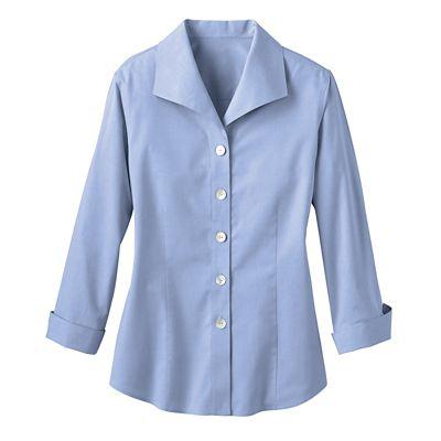 Foxcroft Non-Iron Wing-Collar Shirt