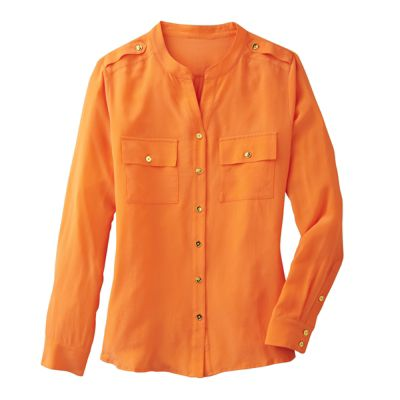 Two-Pocket Button-Front Shirt