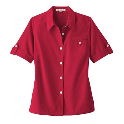 Women's Short-Sleeved Microfiber Shirt