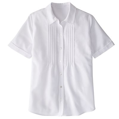 Short-Sleeved Perfect Pintuck Poet Shirt