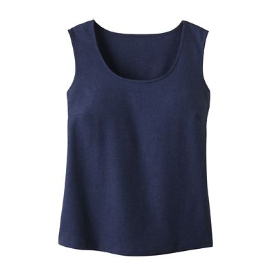 New No-Hassle Linen Scoopneck Shell