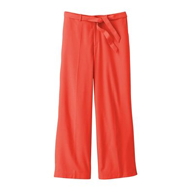 Plus Size Original Fit New No-Hassle Linen Cropped Pants