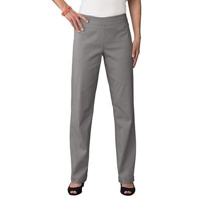 Classic Fit Slim-Sation Pull-On Straight Leg Pants