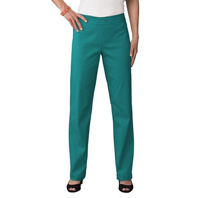 Classic Fit Slim-Sation Pull-On Straight Leg Pants