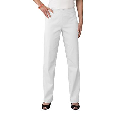 Plus Size Classic Fit Slim-Sation Pull-On Straight Leg Pants