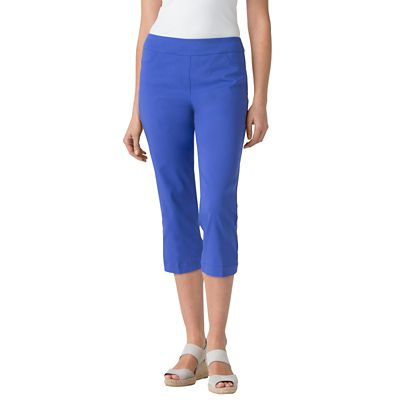 Classic Fit Slim-Sation Pull-On Cropped Pants