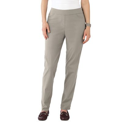 Plus Size Classic Fit Slim-Sation Tapered Leg Pull-On Pants