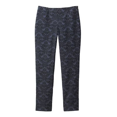 Original Fit Foxcroft Stretch Jacquard Side-Zip Pants