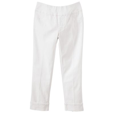 Slim-Sation Denim Cuff Cropped Pants