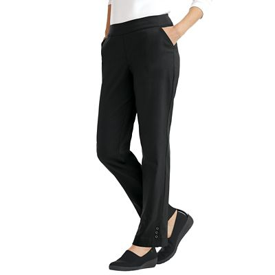 Classic Fit Slim-Sation Button-Hem Pants