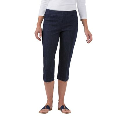 Classic Fit Slim-Sation Denim Cropped Pants